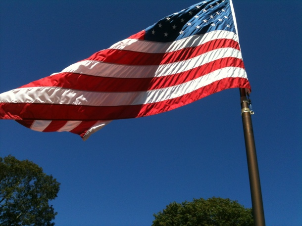 Old Glory, perfect breeze
